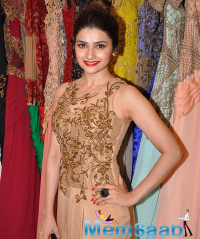 Prachi Desai Sizzling Look During The Launch Of Sonaakshi Raaj Flagship Store
