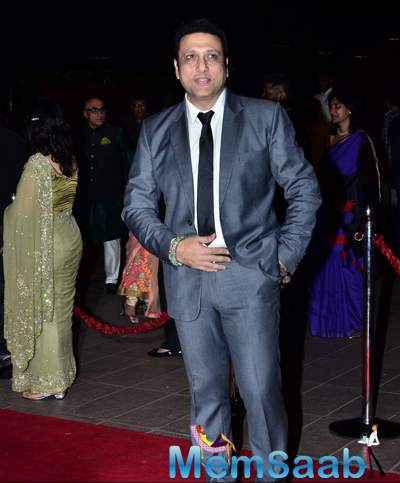 Govinda Dappers Look At Arpita Khan And Aayush Sharma Wedding Reception