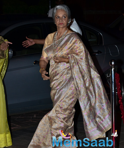 Waheeda Rehman Arrived At Arpita Khan And Aayush Sharma Wedding Reception
