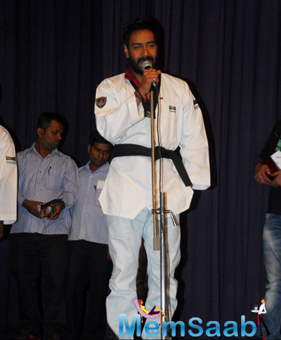 Ajay Devgan Spoke Few Words At An Event Organised To Honour For His Contribution In Martial Arts