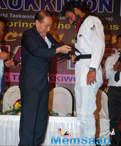 South Korean Master Taekwondo Honoured Ajay Devgan