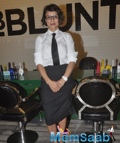 Adhuna Bhabani Akhtar Strike A Pose At The Launch Of BBlunt Salon