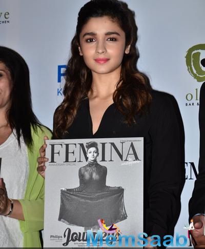 Alia Bhatt Launches Femina Magazine 55th Anniversary Issue