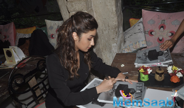 Alia Bhatt Signs Autograph At The Launch Of Femina 55th Edition Cover Page