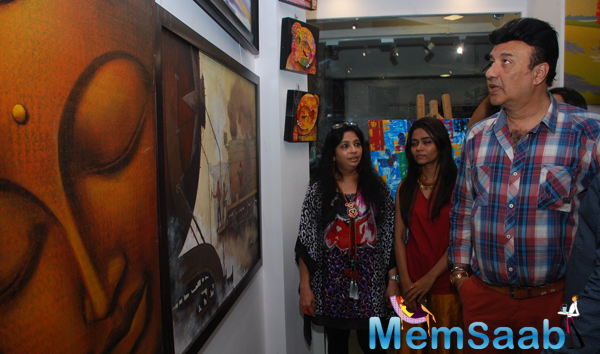 Anu Malik Snapped Checking Out The Designs At JS Art Gallery Launch