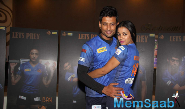 Indraneil Sengupta Posed With Wife Barkha Bisht Sengupta At The Chandigarh BCL Press Meet