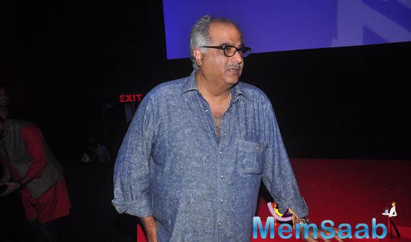 Boney Kapoor Present During The Launch Of Radha Nachegi Song From Tevar Movie