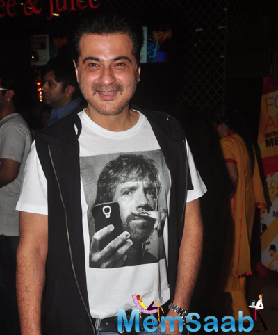 Sanjay Kapoor Dazzling Cool Face Look During The Launch Of Radha Nachegi Song From Tevar Movie
