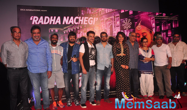 Sonakshi Sinha And Tevar Team Clicked During The Launch Of Radha Nachegi Song