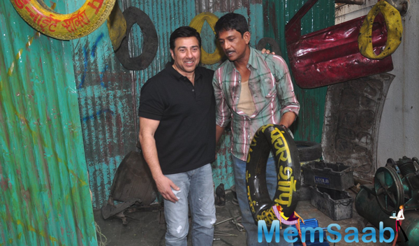 Sunny Deol Clicked With Adil Hussain At Promotional Event Of Zed Plus