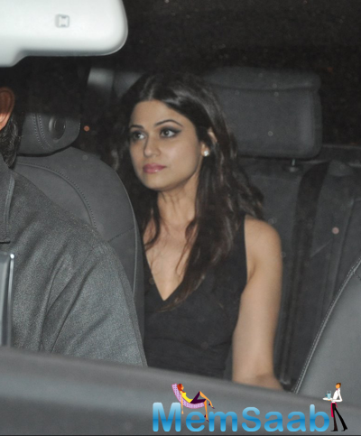 Shamita Shetty Snapped In Her Car At Bandra, Mumbai