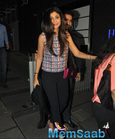Shilpa Shetty Spotted In Bandra At Mumbai