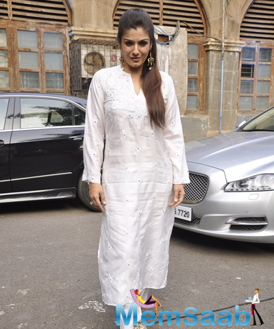Raveena Tandon Arrived At Promotional Event Of Art Week
