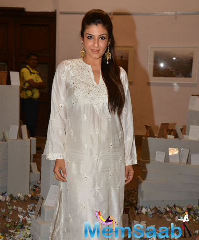 Raveena Tandon Strikes A Pose At The Promotional Event India Art Week