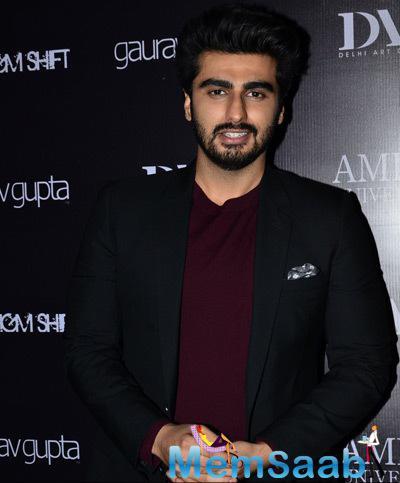 Arjun Kapoor Cool Look During The Launch Of Gaurav Gupta Store