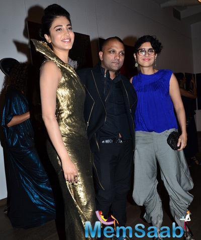 Shruti Haasan,Gaurav Gupta And Kiran Rao Clicked At Gaurav Gupta Store Launch
