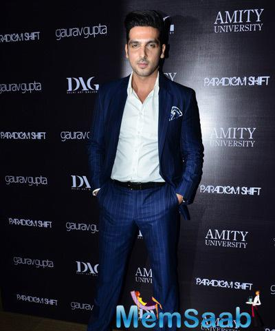 Zayed Khan Dashing Look In A Blue Suit During The Launch Of Gaurav Gupta Store