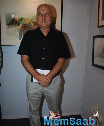 Anupam Kher For The Event Looked Great In A Black Shirt And Trouser