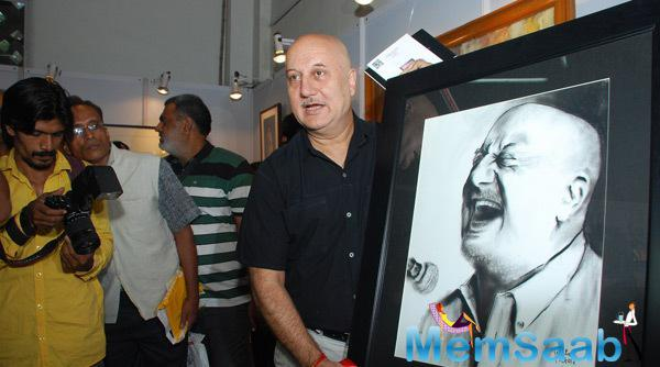 Anupam Kher Launched His Potrate At India Art Festival 2014