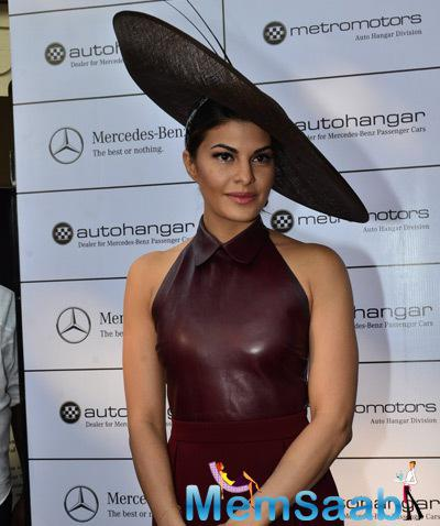 Jacqueline Fernandez Attended Metro Motors Auto Hanger Sir H.M. Mehta Million Trophy