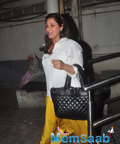 Dimple Kapadia Spotted At PVR In Mumbai