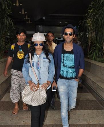 Patralekha And Rajkummar Rao Spotted At Mumbai Airport
