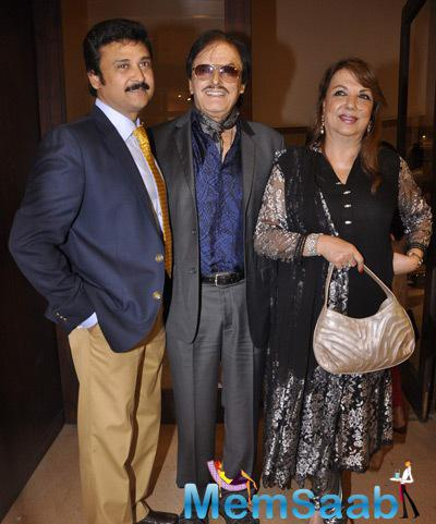 Sanjay Khan And Wife Zarine Khan Attend The Camel Colour Painting Exhibition 2014