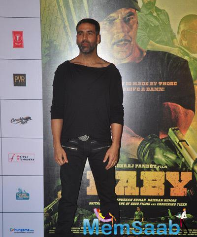 Akshay Snapped At The 1st Look Launch Of His Upcoming Movie Baby