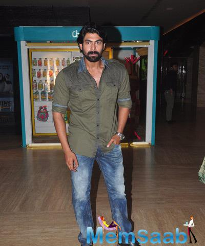 Rana Daggubati Posing For Shutterbugs At The Launch Of First Look Baby