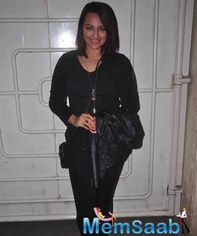 Sonakshi Sinha Seen At The Screening Of Action Jackson