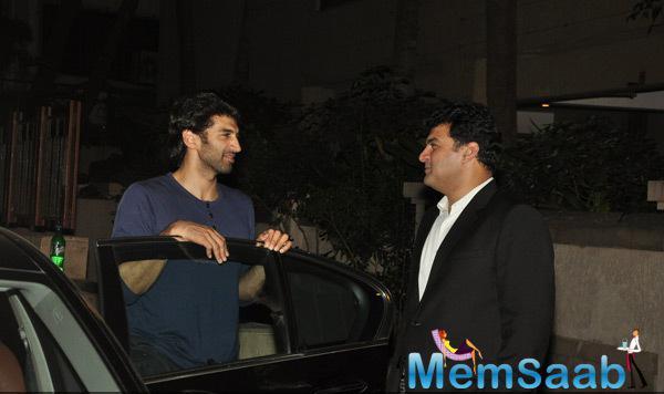 Aditya Roy Kapur And Siddharth Roy Kapur Spotted At Ranbir Kapoor House