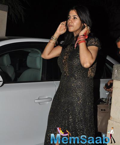 Ekta Kapoor Arrives Designer Manish's Birthday Bash