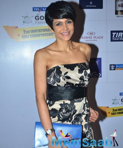 Mandira Bedi Clicked At Yes Bank Golf Foundation Event