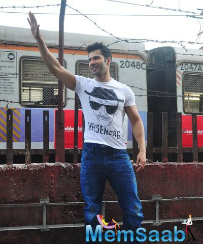 Varun Dhawan Promotes Film Badlapur At Getty Cinema In Mumbai
