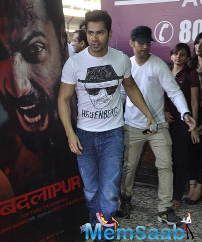 Varun Dhawan Snapped For Badlapur Promotion