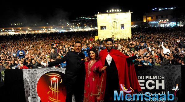 Farah,Abhishek And Boman Presented HNY At The 14th MIFF In Morocco