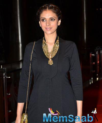 Aditi Rao Hydari Spotted At Samvedna Foundation For A Social Cause