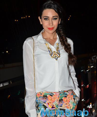 Karisma Kapoor Chic Look During Samvedna Foundation Hosted By Nikhar Tandon