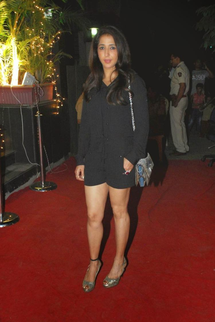 Krishika Lulla In Short Black Dress On Red Carpet At Vikram Phadnis New Fashion Store Krasaa Launch Event