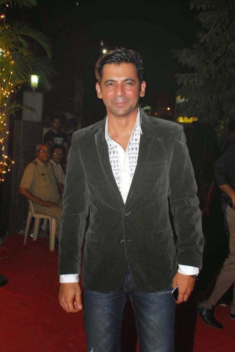 Sunil Grover Smiling Pose During The Launch Of Vikram Phadnis Fashion Store Krasaa