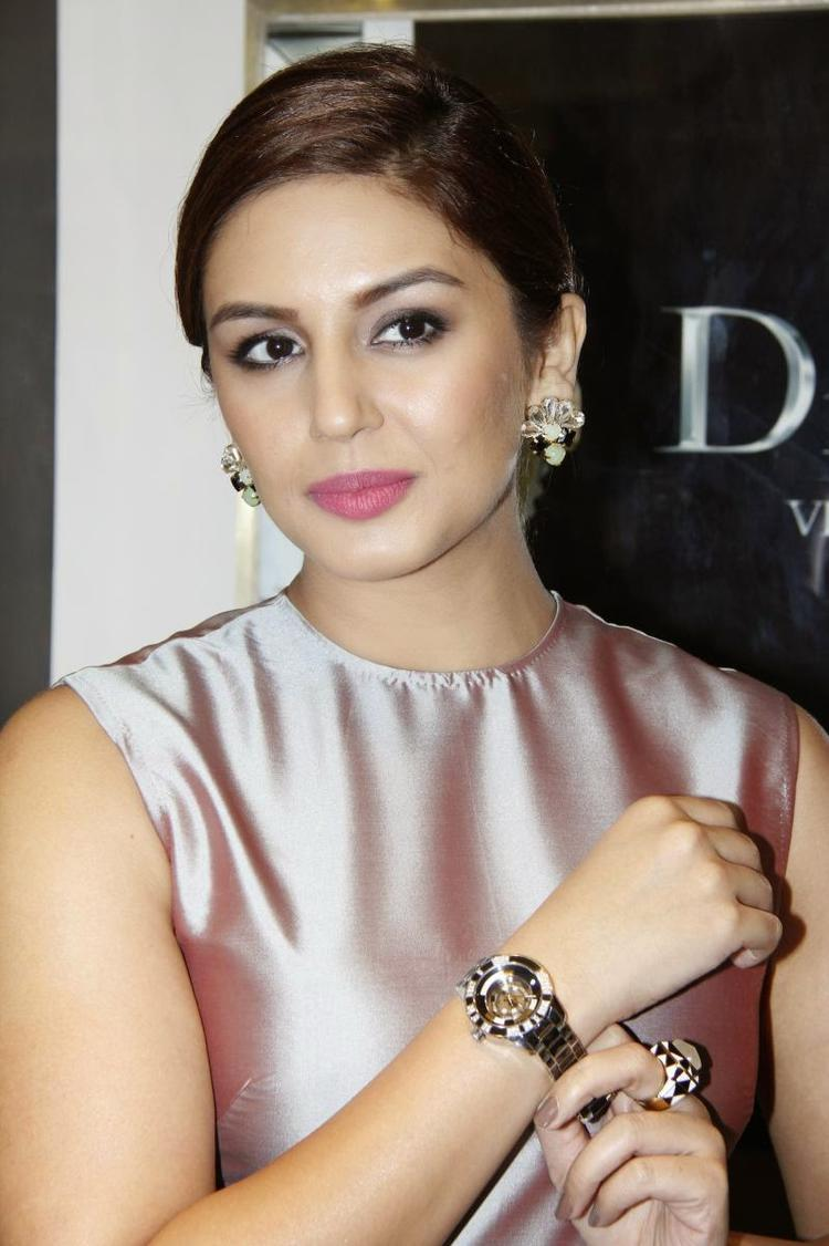 Huma Qureshi Shows The Watch At The Launch Of Swiss Watch Brand Dior In India