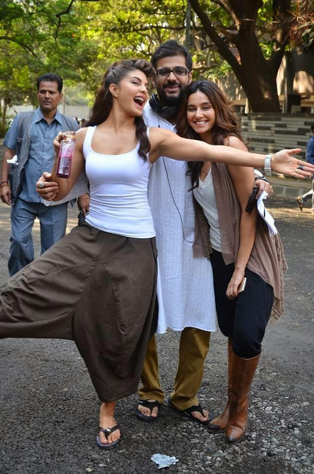 Jacqueline Fun On The Sets Of The Upcoming Movie Roy