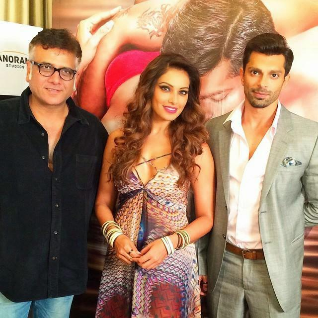 Bhushan Patel,Bipasha Basu And Karan Singh Grover Posed During The Trailer Launch Of Alone