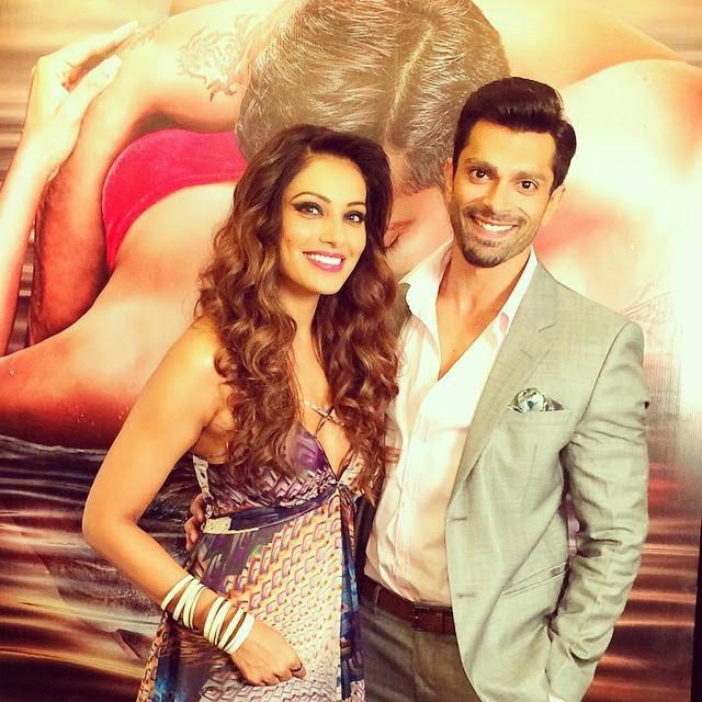 Bipasha Basu And Karan Singh Grover Cool Pose During The Trailer Launch Of Alone
