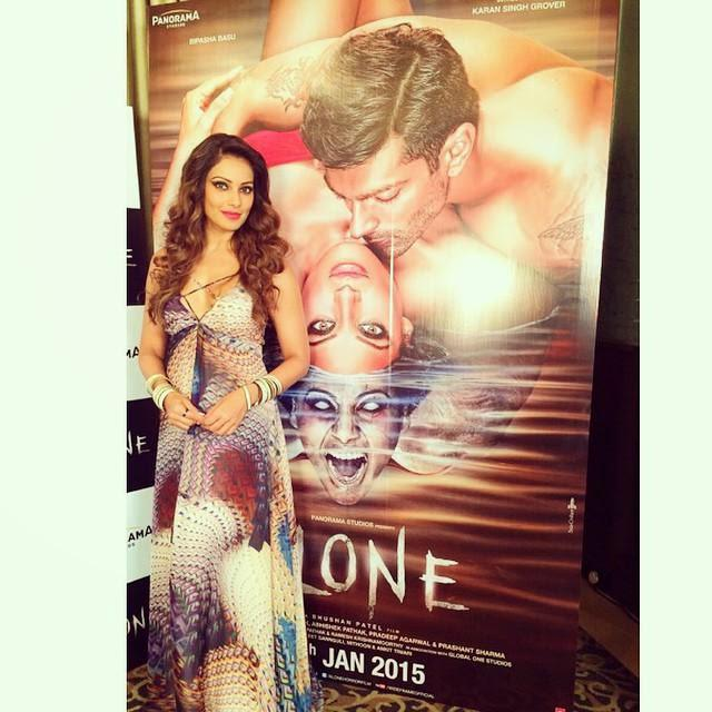 Bipasha Basu Hot Stunning Look In Gown During The Trailer Launch Of Alone