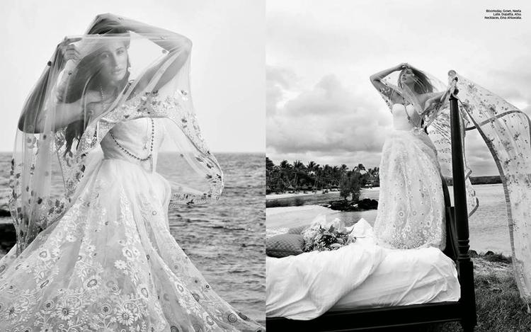 Nargis Fakhri Sexy Look For Harper's Bazaar Magazine December 2014 Edition