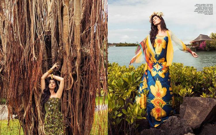 Nargis Fakhri Stunning Glamour Look For Harper's Bazaar Magazine December 2014 Issue
