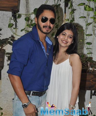 Shreyas Talpade Posed With Wife Deepti Talpade At The Trailer Launch Of Baji