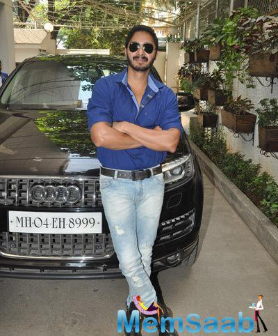 Shreyas Talpade Strike A Pose For Shutterbugs At The Launch Of Baji