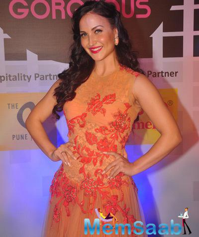 Beautiful Elli Avram Pose For Camera At Miss Femina Officially Gorgeous 2014